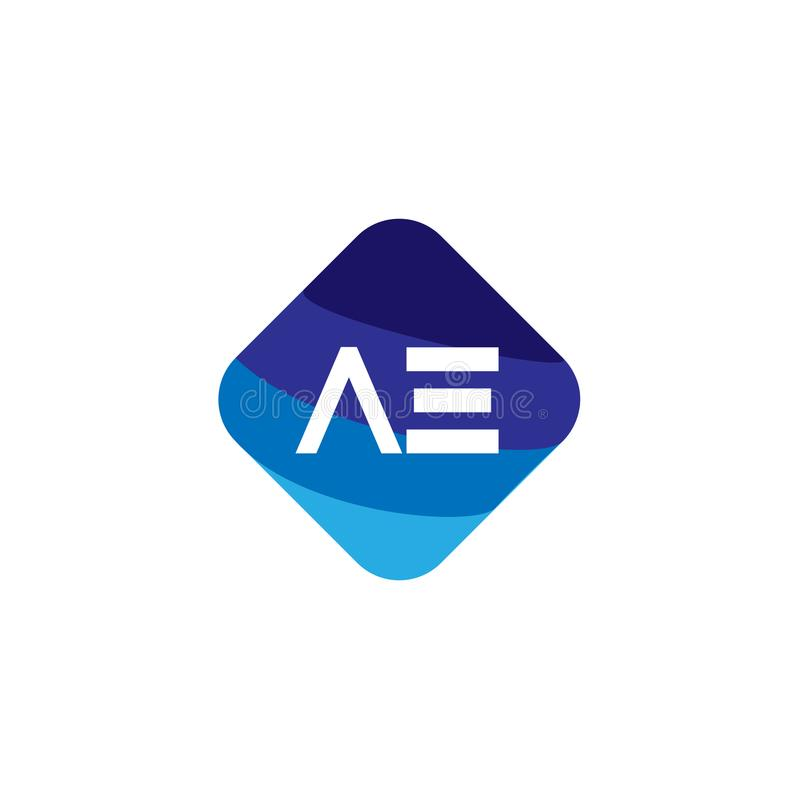Aanvankelijke Brief VE Logo Template Vector Design stock illustratie