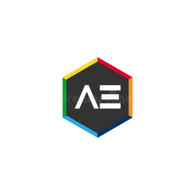 Aanvankelijke Brief VE Logo Template Vector Design royalty-vrije illustratie