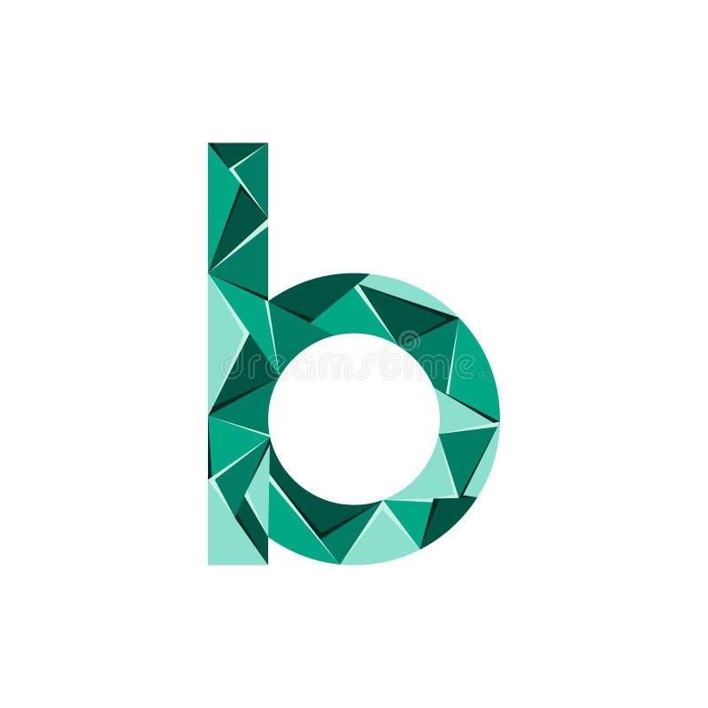 Aanvankelijke het embleemvector van de brievenb abstracte driehoek stock illustratie