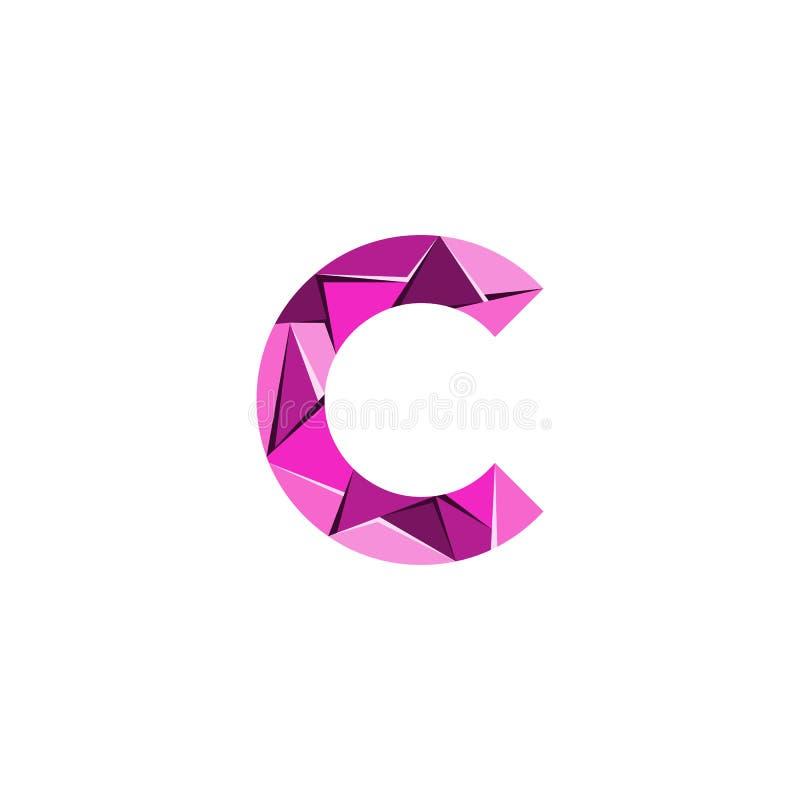 Aanvankelijke het embleemvector van de brievenc abstracte driehoek royalty-vrije illustratie