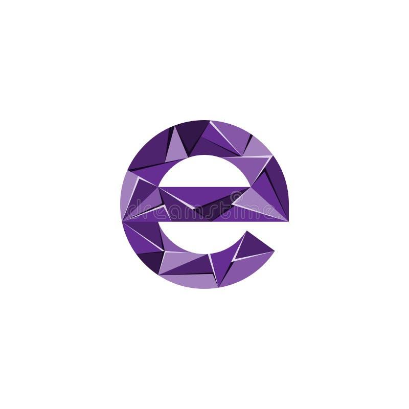 Aanvankelijke het embleemvector van de brievene abstracte driehoek royalty-vrije illustratie