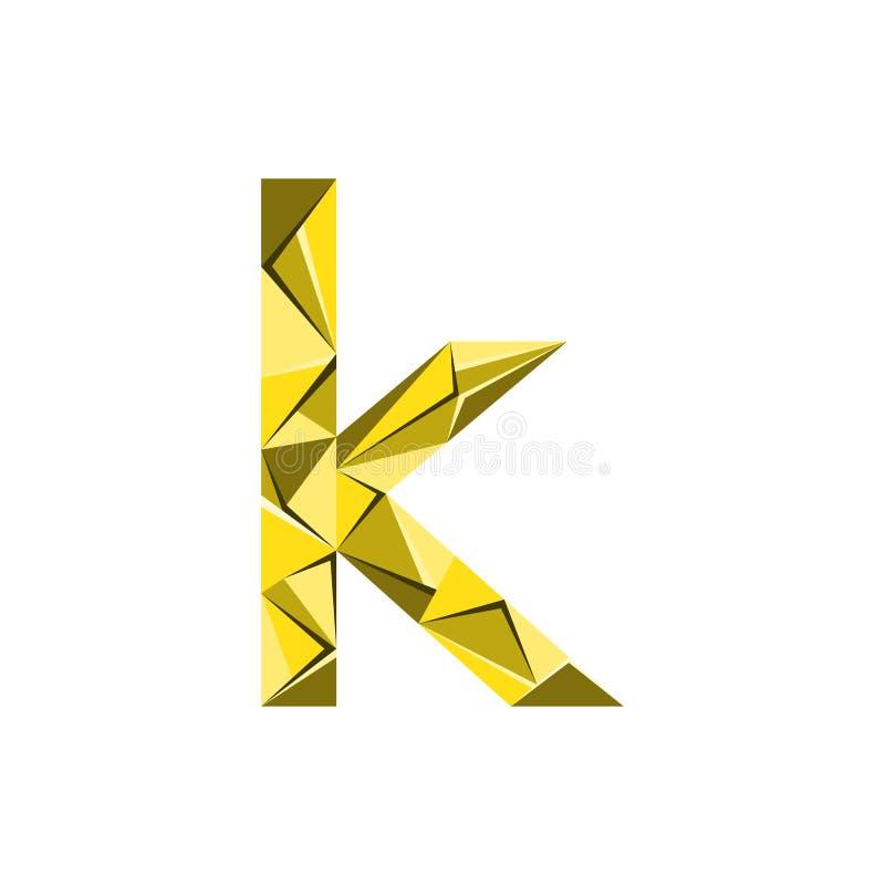 Aanvankelijke het embleemvector van de brievenk abstracte driehoek vector illustratie