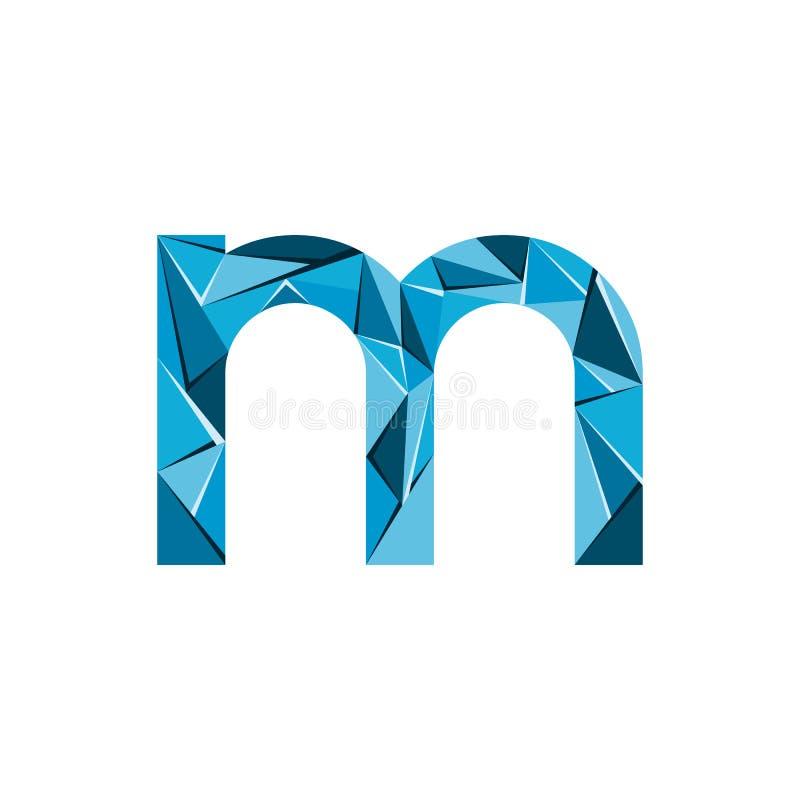 Aanvankelijke het embleemvector van de brievenm abstracte driehoek vector illustratie