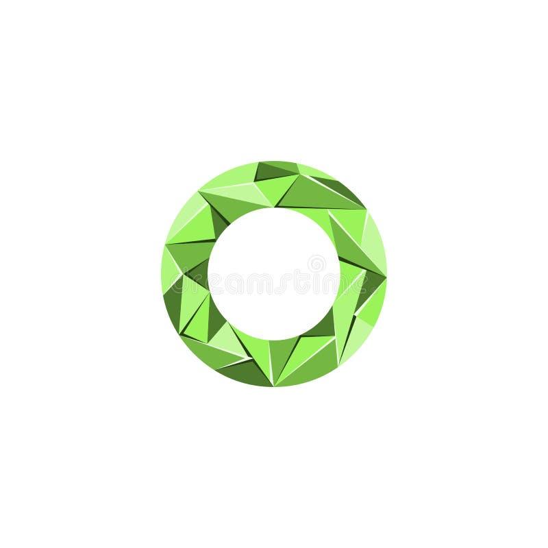 Aanvankelijke het embleemvector van de brieveno abstracte driehoek royalty-vrije illustratie