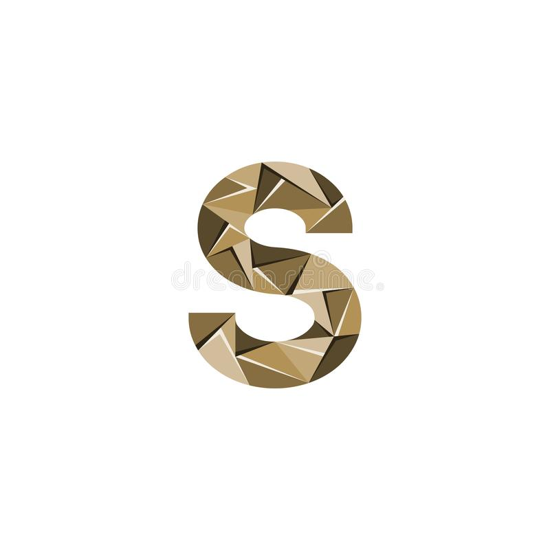 Aanvankelijke het embleemvector van de brievens abstracte driehoek vector illustratie