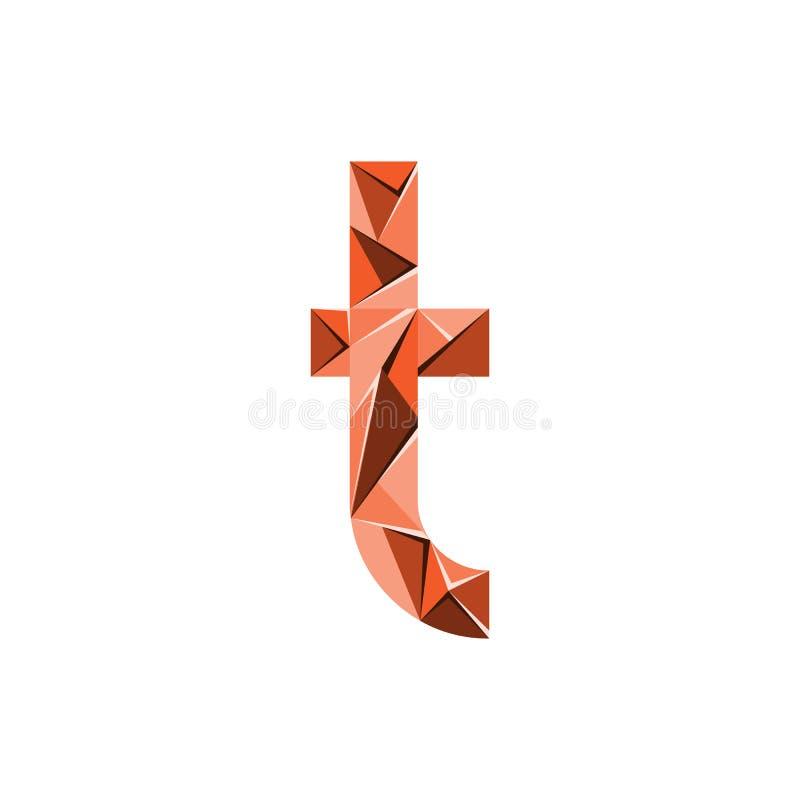 Aanvankelijke het embleemvector van de brievent abstracte driehoek royalty-vrije illustratie