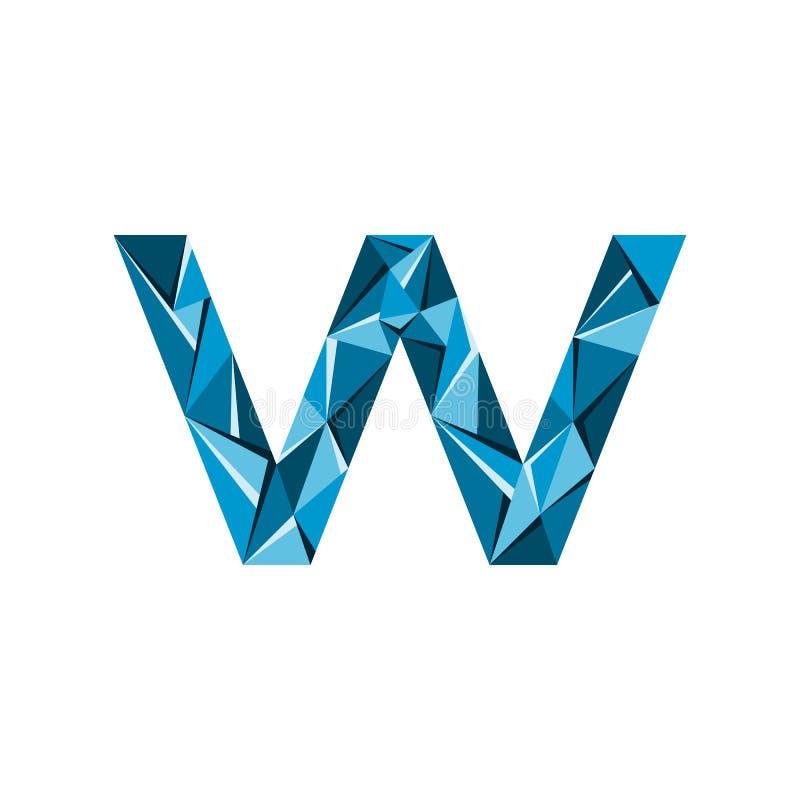 Aanvankelijke het embleemvector van de brievenw abstracte driehoek vector illustratie