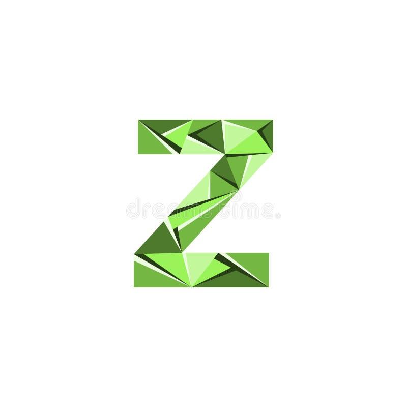 Aanvankelijke het embleemvector van de brievenz abstracte driehoek vector illustratie