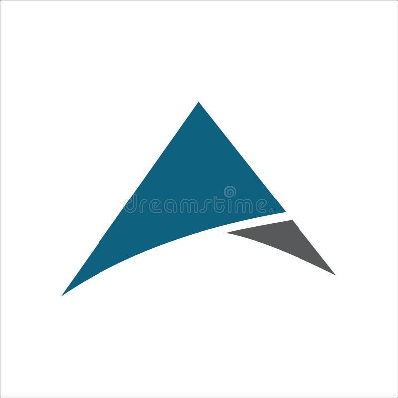 Aanvankelijke a-het ontwerpvector van het driehoeksembleem stock illustratie