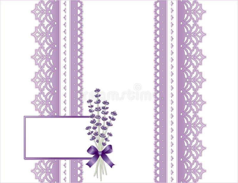Aanwezige lavendel en Kant royalty-vrije illustratie