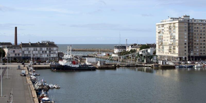 Aanzicht op de haven van Saint Nazaire in Frankrijk stock afbeelding