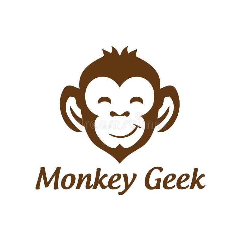 Aap Geek Vectorlogo design vector illustratie