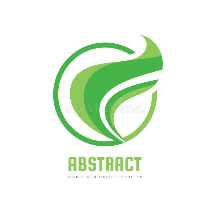 Aard - de vectorillustratie concepten van het bedrijfsembleemmalplaatje Abstract groen bladeren creatief teken Biologisch product vector illustratie
