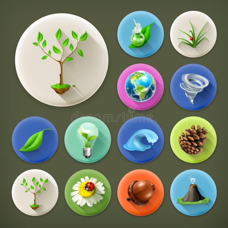 Aard en Ecologieillustratie royalty-vrije illustratie