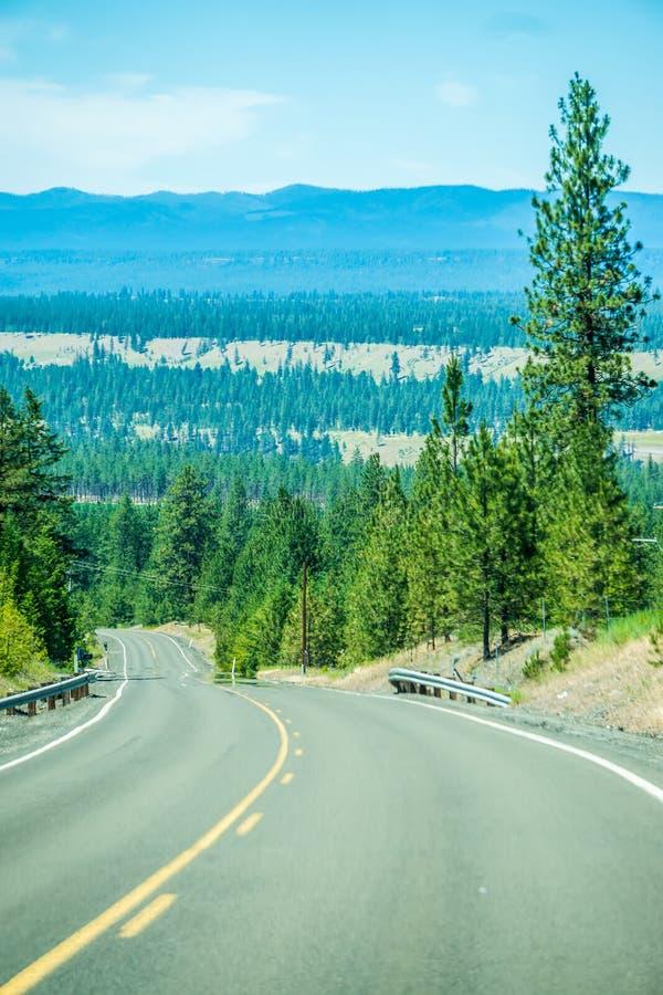 Aard en landschappen in de reserve van Spokane dichtbij de rivier van Spokane Colombia stock afbeeldingen