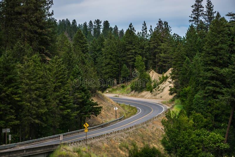 Aard en landschappen in de reserve van Spokane dichtbij de rivier van Spokane Colombia stock afbeelding