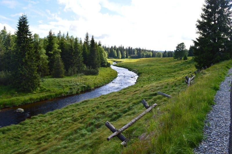 Aard en rivier royalty-vrije stock foto