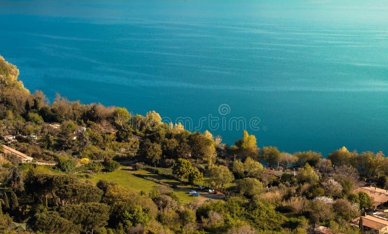 Aard en Water, Albano Lake, Italië royalty-vrije stock afbeeldingen