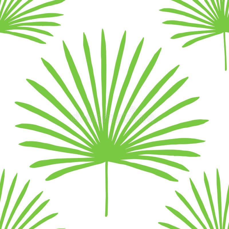 aard naadloos patroon Hand getrokken abstracte tropische de zomerachtergrond vector illustratie