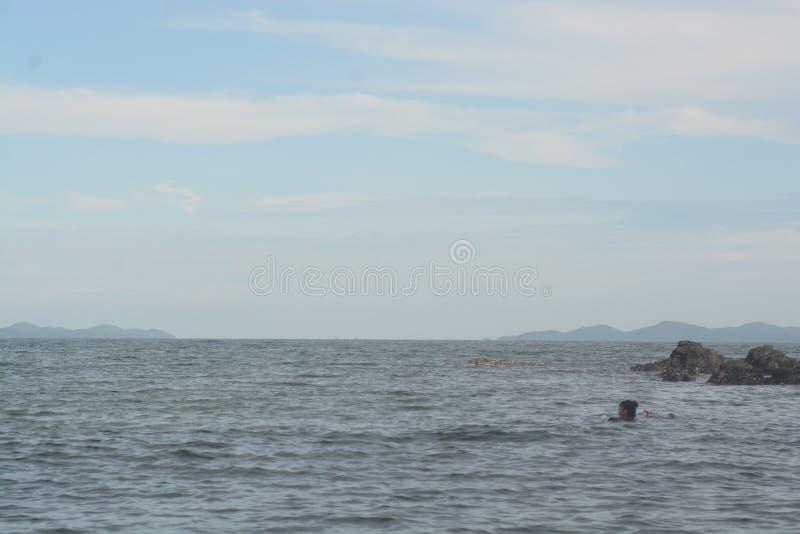 Aard Oceaanmening met duidelijke hemel royalty-vrije stock fotografie