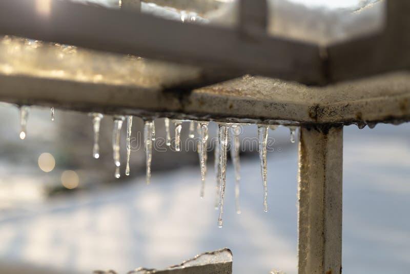 Aard van het de winter de stedelijke landschap royalty-vrije stock afbeeldingen