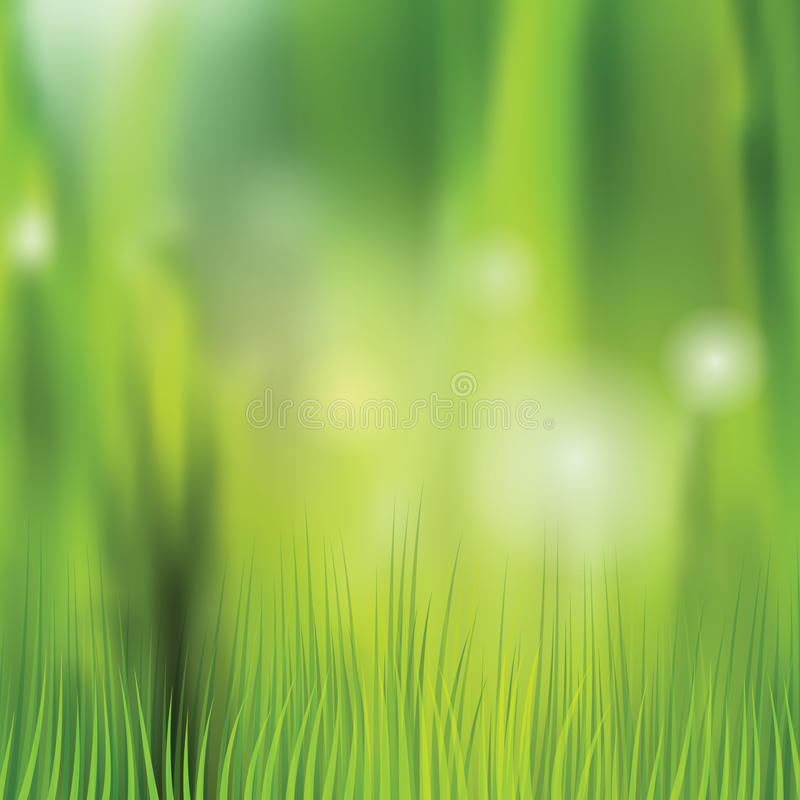 Aardachtergrond met vaag gras en bokeh stock illustratie