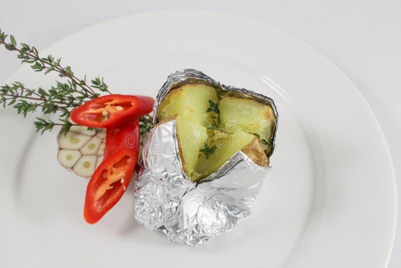 Aardappel in de schil 3 royalty-vrije stock afbeelding