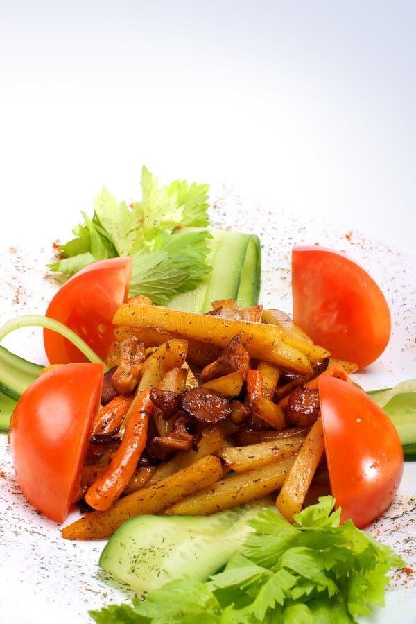 Aardappel met groenten royalty-vrije stock afbeeldingen
