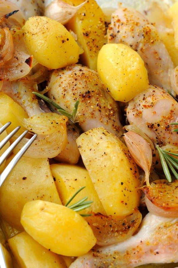 Aardappel met kip royalty-vrije stock foto