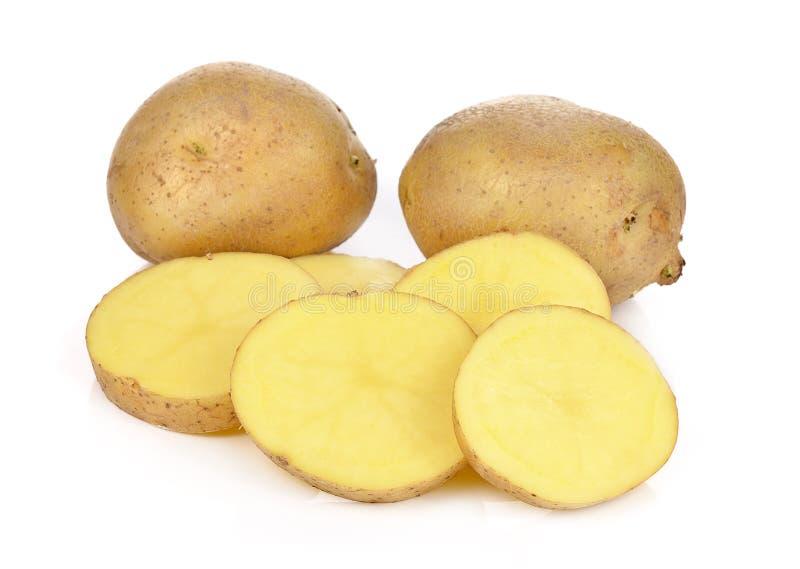 Aardappels die op witte achtergrond worden geïsoleerd stock afbeeldingen