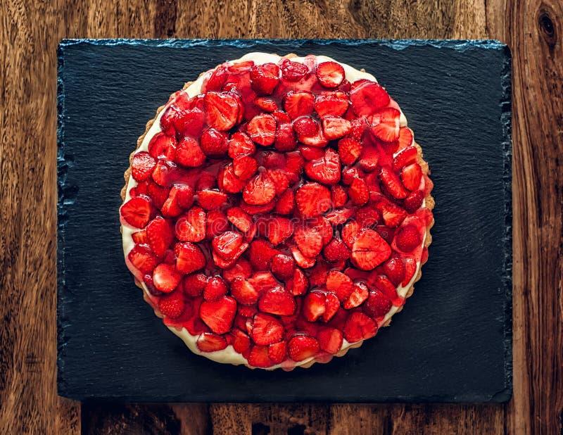 Aardbei cake stock foto