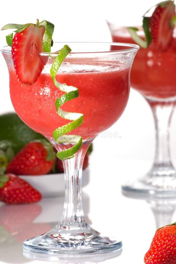 Aardbei Daiquiri - de Meeste populaire cocktails serie stock afbeelding