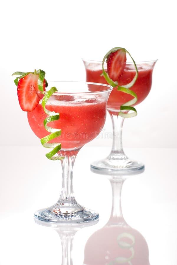 Aardbei Daiquiri - de Meeste populaire cocktails serie royalty-vrije stock foto