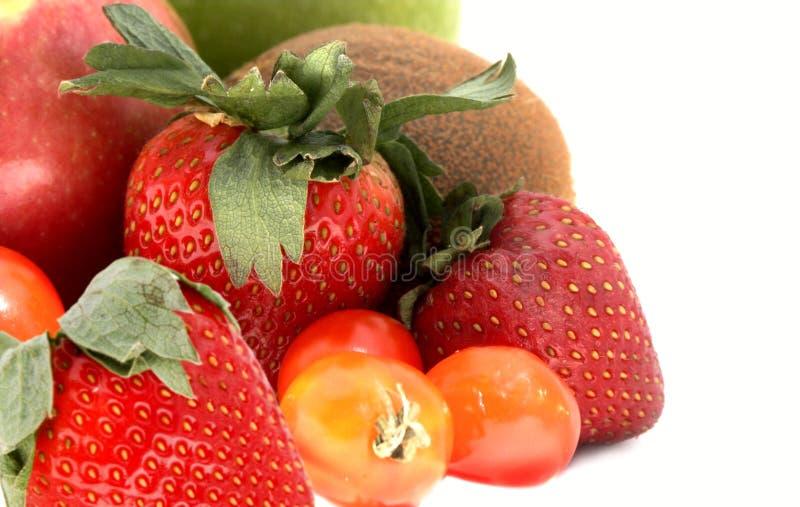 Aardbei, kiwi, tomaat, appelen royalty-vrije stock fotografie