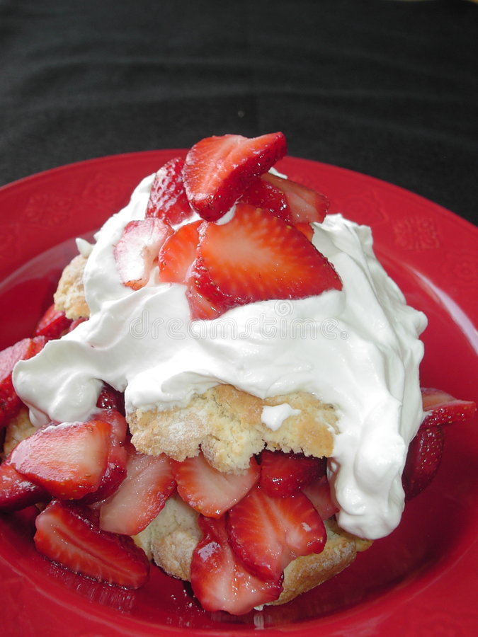 Aardbei shortcake stock afbeelding