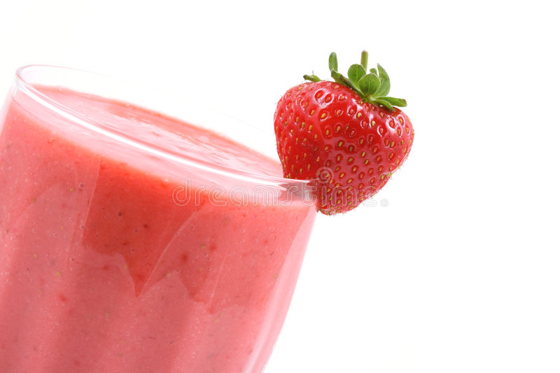 Aardbei smoothie stock fotografie