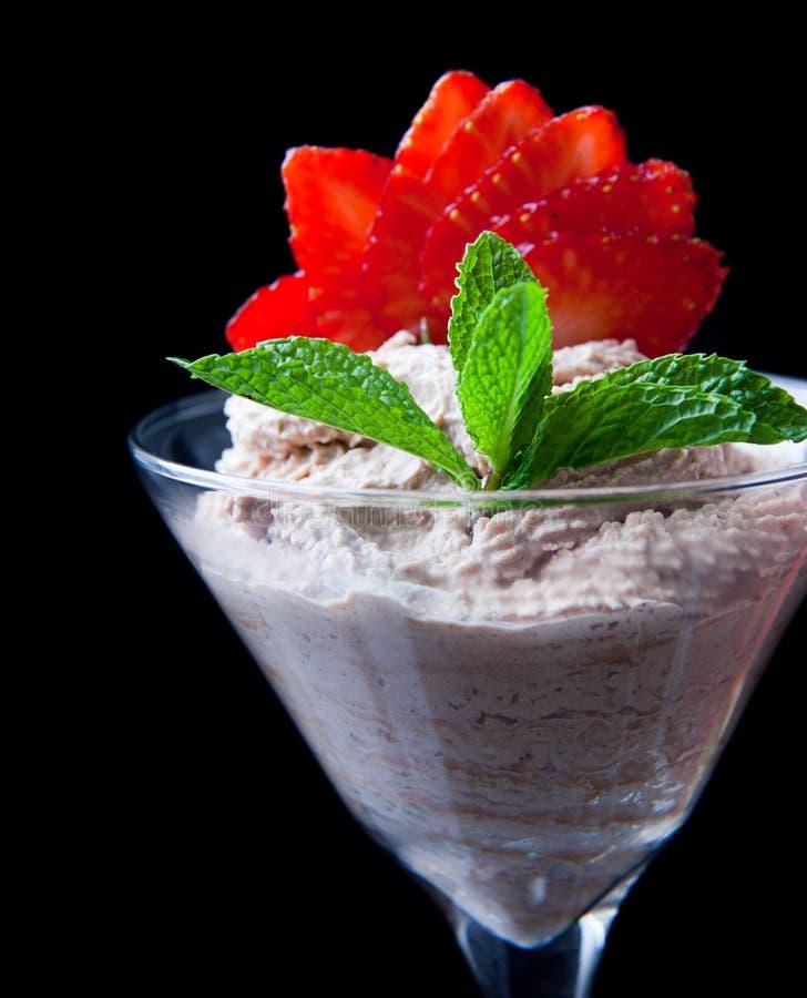Aardbeien en chocolade royalty-vrije stock afbeeldingen