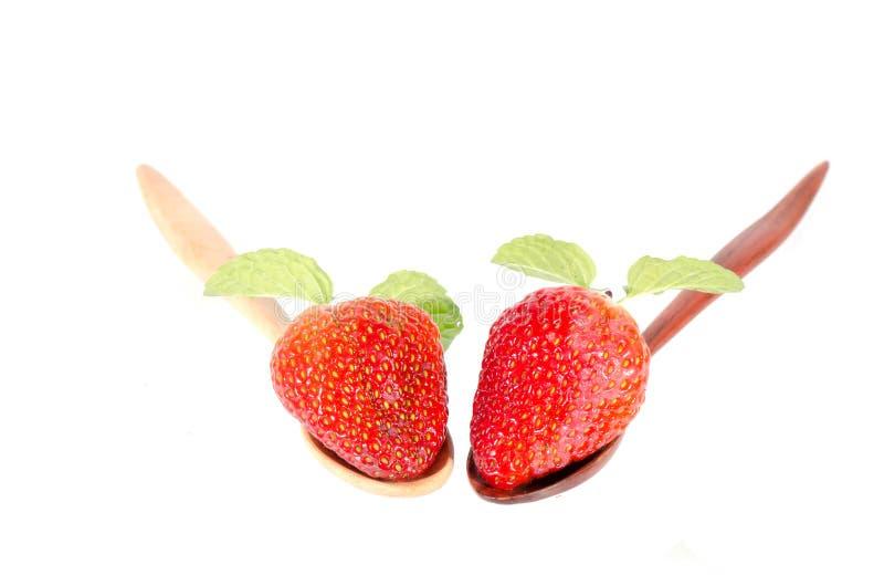 Aardbeien. Geïsoleerd op een witte achtergrond. royalty-vrije stock fotografie