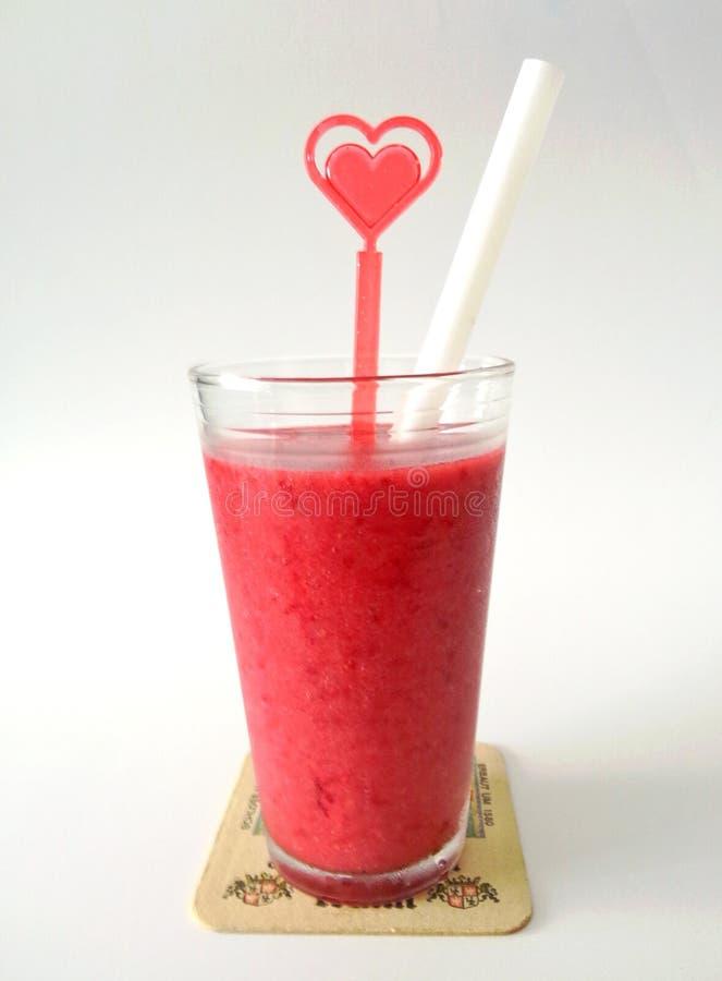 Aardbeien smoothie stock fotografie