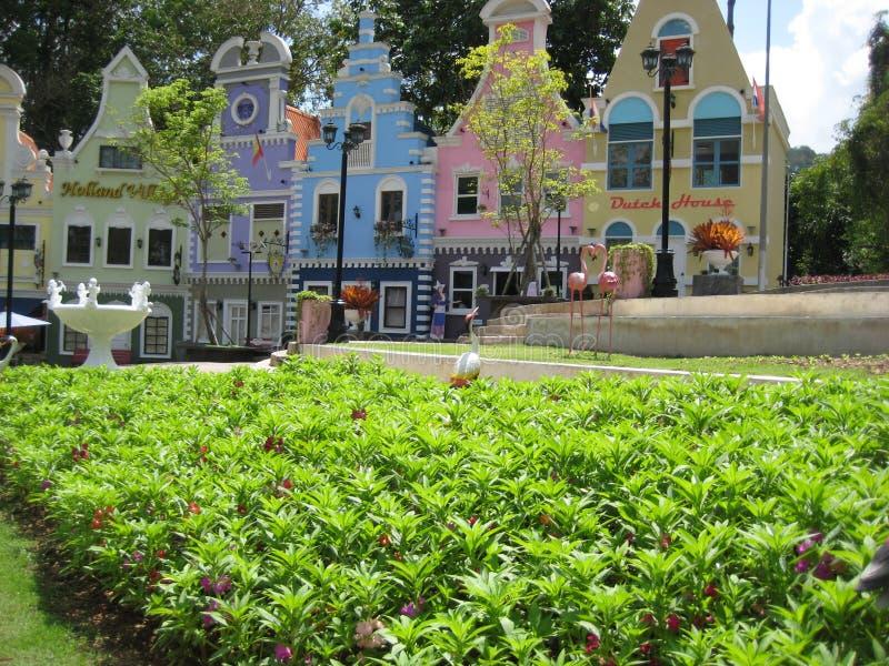 Aardbeistad, Rayong-provincie, Thailand royalty-vrije stock afbeelding
