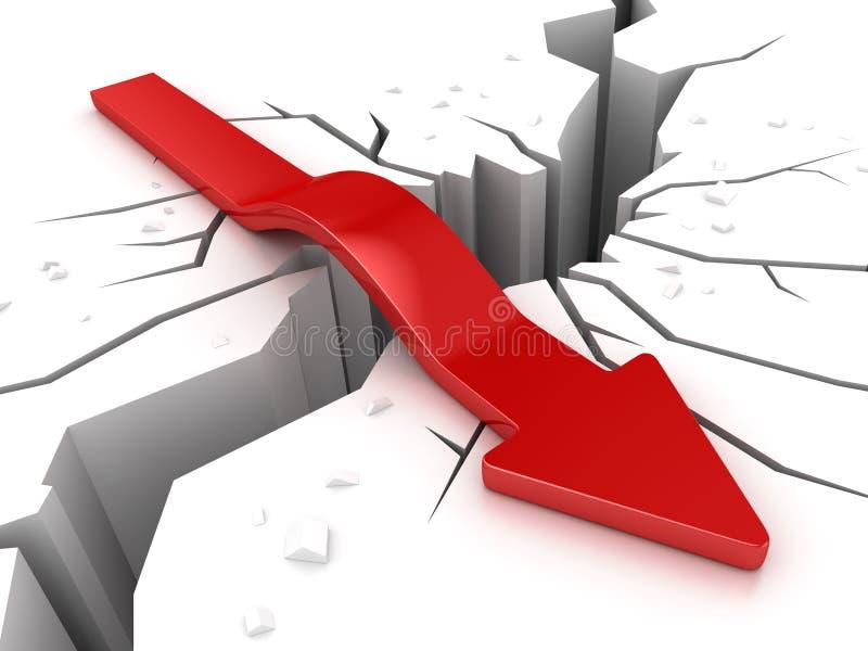 Download Aardbeving en Rode Pijl stock illustratie. Illustratie bestaande uit gevaar - 107704617