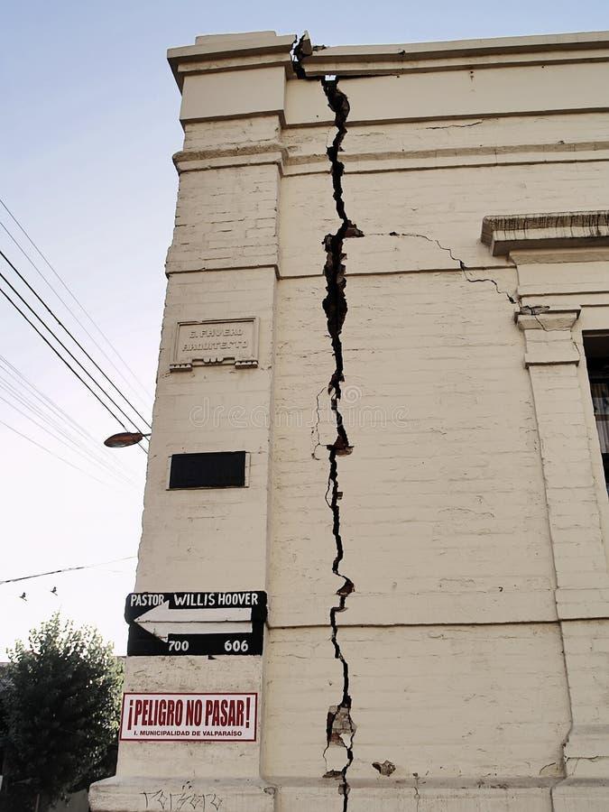 Aardbeving van Chili februari 2010 in Valparaiso 11 stock afbeeldingen