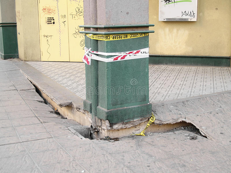 Aardbeving van Chili februari 2010 in Valparaiso 12 royalty-vrije stock fotografie