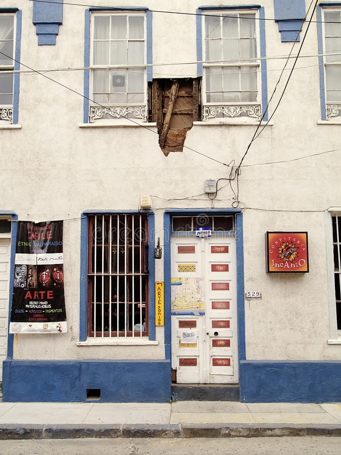 Aardbeving van Chili februari 2010 in Valparaiso 19 royalty-vrije stock afbeeldingen