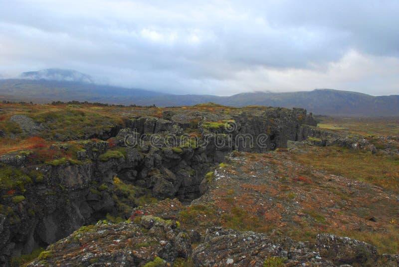Aardbevingsspleet, IJsland royalty-vrije stock foto