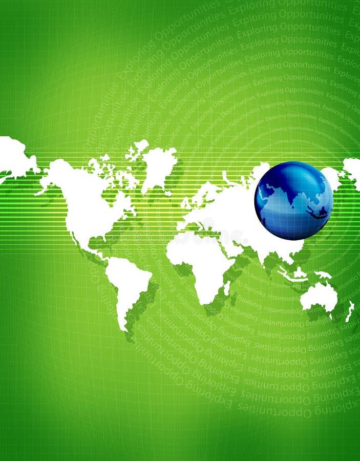 Aarde & continenten royalty-vrije illustratie