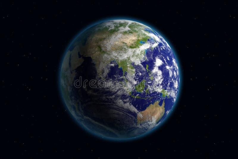 Aarde - Azië & Wolken royalty-vrije illustratie