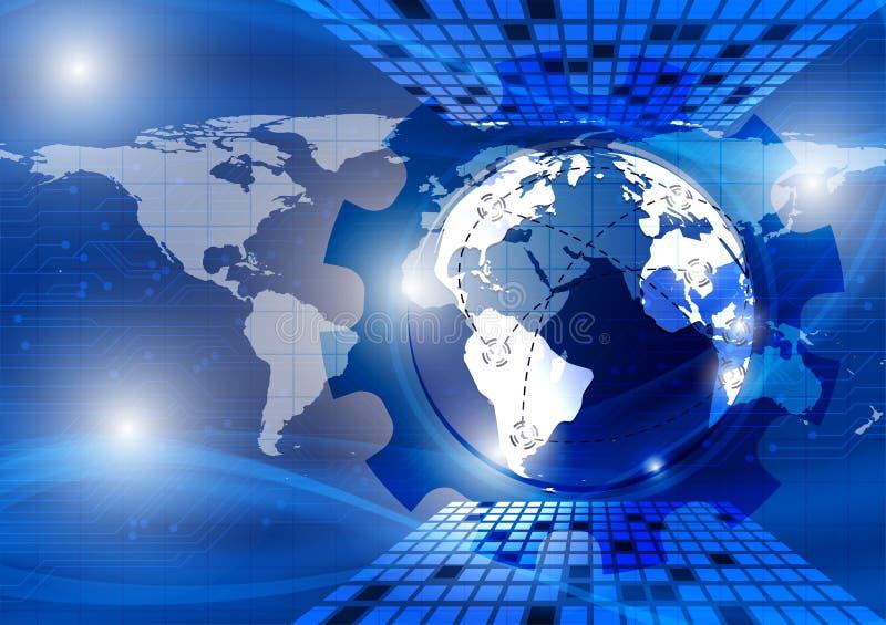 Aarde, blauwe golf abstracte vectorachtergrond, technologieconcept voor uw bedrijfs moderne ontwerpnasa stock illustratie