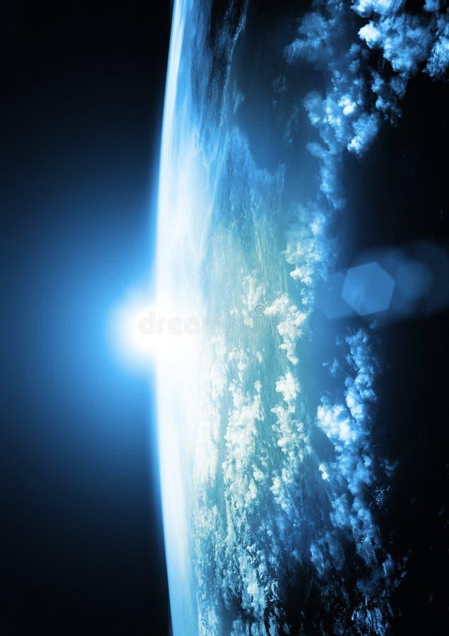 Aarde - Blauwe Horizonnen royalty-vrije illustratie