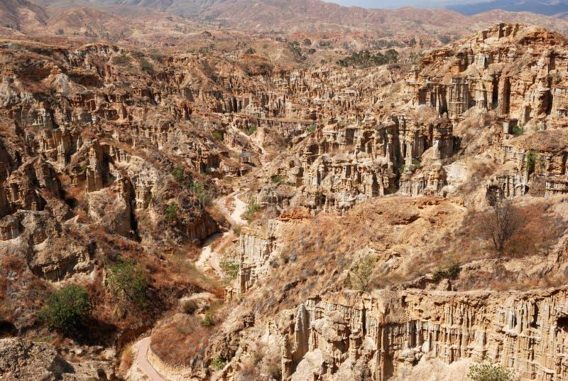 Aarde bos toneelgebied van yuanmouprovincie stock foto